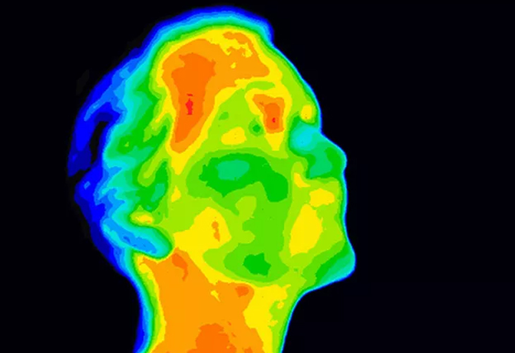 thermal scan of a persons head
